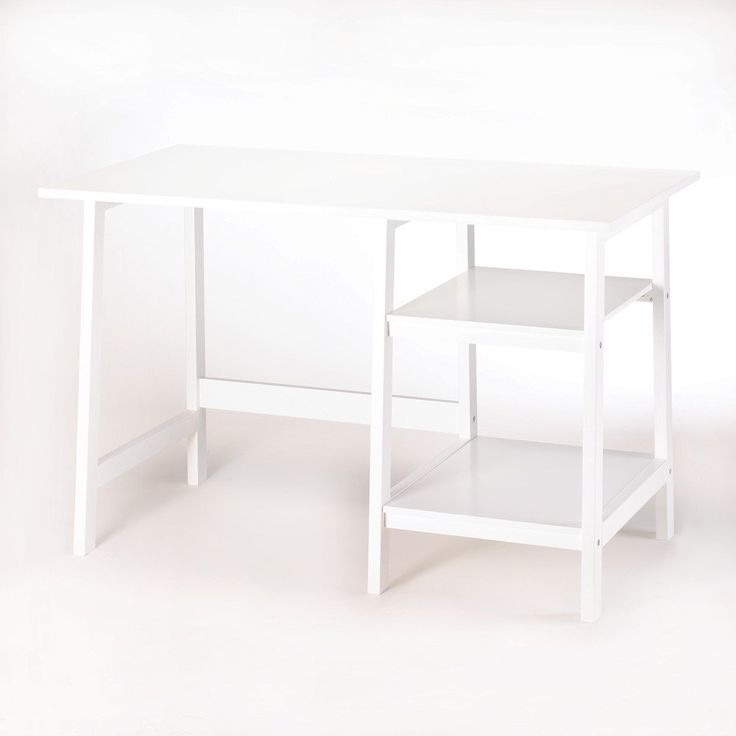 Whether you're working or studying at home, check off your to-do list at this classic white workstation desk. Simplicity in style with all the space you need fo