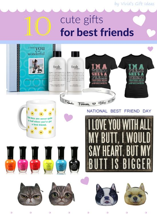 National best friend day gift ideas for best friend for Cute small gifts for friends