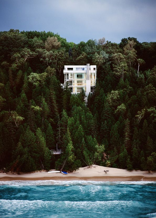 Scott Frances, Douglas House, Harbor Springs MI.  Architect Richard Meier.