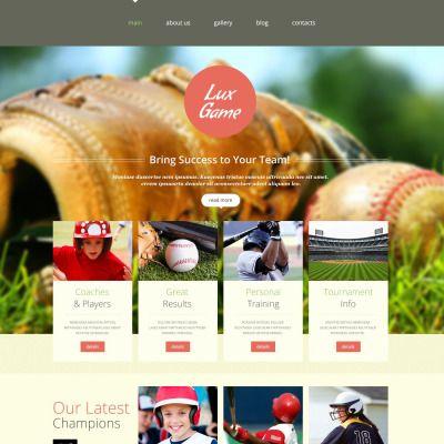 Baseball Live Responsive Website Template
