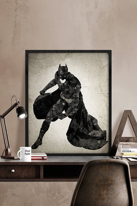 Batman poster, Batman print, Superhero poster, Hero print, Art, Hero Illustration, Abstract, Wall, Artwork, Comic poster, Gift, Home Decor.