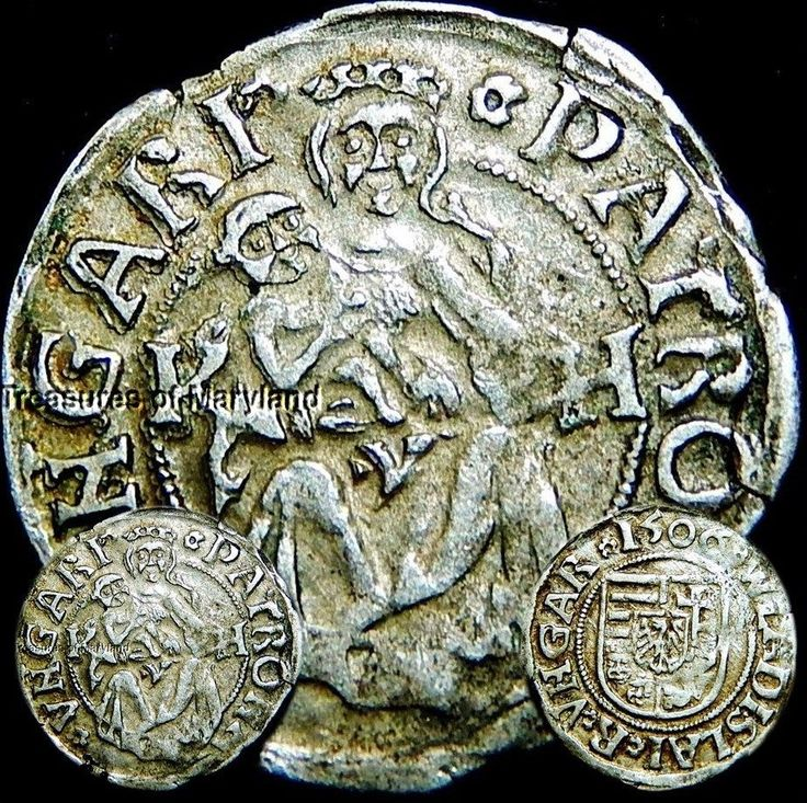 EXCELLENT! 1506 MARY HOLDING BABY JESUS HUNGARIAN DENAR sku #YM2