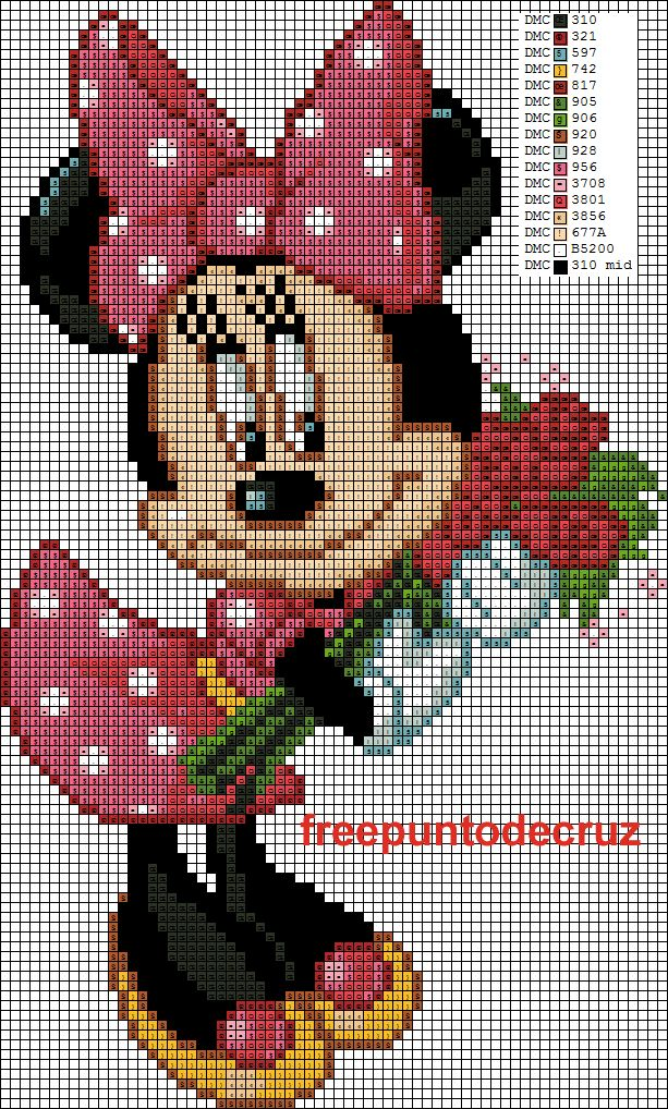 Minnie Mouse Cross Stitch------ I wonder if this graft would work for an afghan.