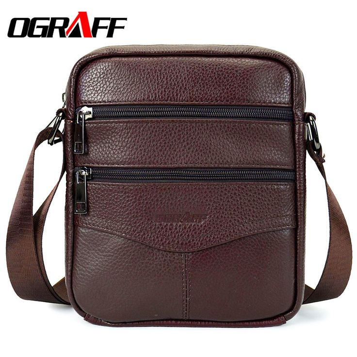 OGRAFF Brand Designer Luxury High Quality  Genuine Leather Casual Zipper Men Bag //Price: $41.97 & FREE Shipping //     #fudmartng