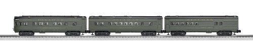 Lionel Pullman Passenger Expansion Pack:   6-30111  Features: -Material: Plastic and metal.-Gauge: Traditional O gauge.-Rail line: Pullman-Standard.-Minimum curve: O-27.-Layout from 40'' x 60'' to 50'' x 70''. Color/Finish: -Color: Grey. Warranty: -1 year warranty.