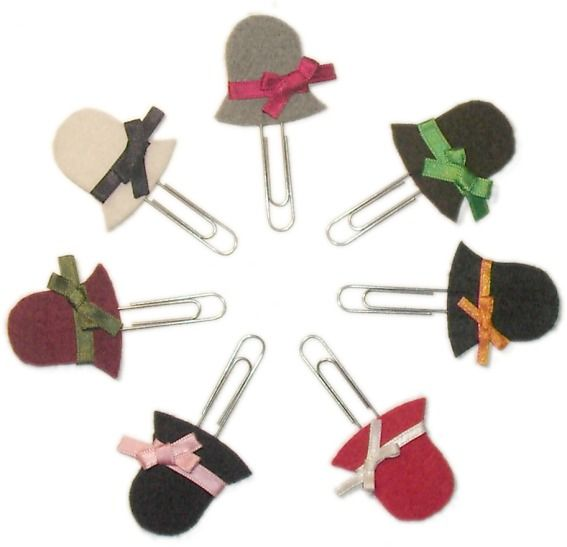 Felt Hat Paper Clips {Abba and Brin}