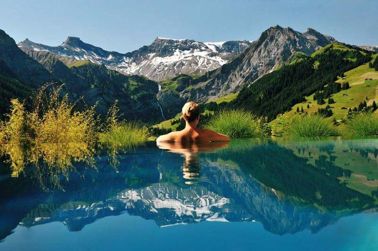 Entspannen und Wellness in der Schweiz. Wellnesshotel in den Alpen