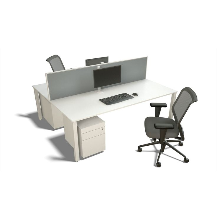 Presto Double Desk - The Presto workstation double desk comprises of two work surfaces that are linked together to provide a double desk, with the option of a Presto dividing screen. The Presto double desk is well suited to support administration, small project teams or call centre requirements quickly and at a minimal expense.