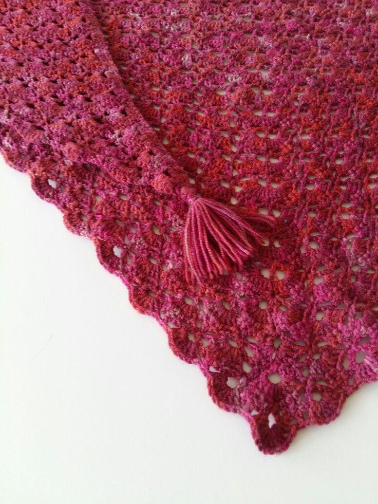 Southbay sjaal /  handgeverfde Merinowol