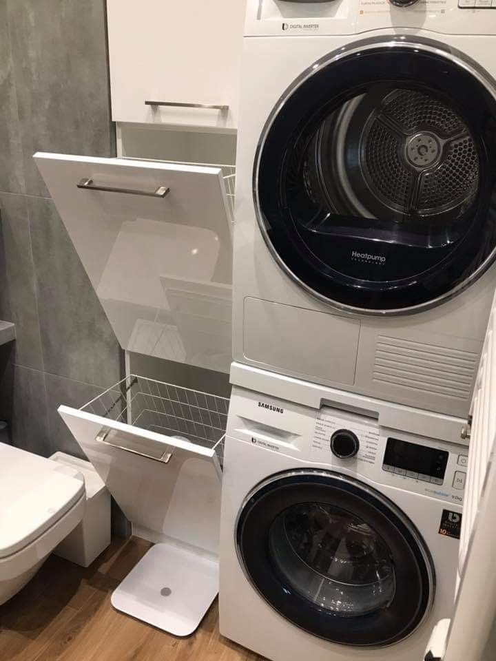 Pin By Monika12 On Lazienka In 2019 Washer Dryer Stacked