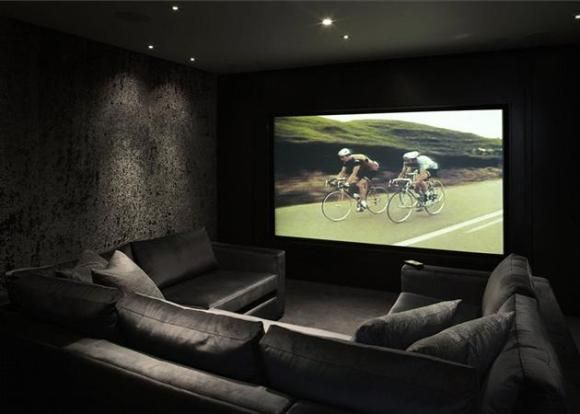 20 home cinema room ideas small spaces theatre design for What size tv do i need for a 12x15 room