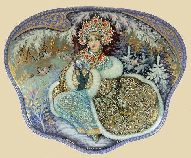 Russian lacquer box- Snow Queen