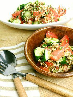 蕎麦の実スプライトのヘンプde夏サラダ