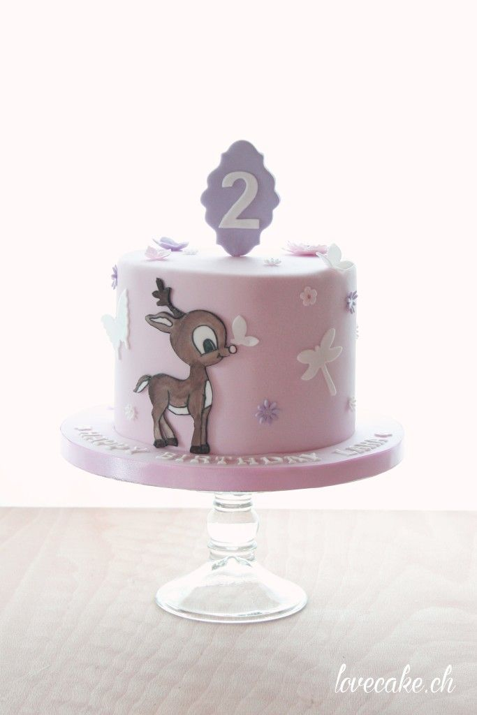 Little stag birthday cake / Kleiner Hirsch Geburtstagstorte by LoveCake.ch LoveCake   Mit Liebe gemacht Thurgau / St.Gallen, Schweiz (Switzerland)