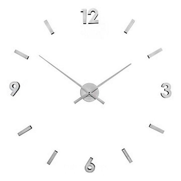 Zegar ścienny naklejany Exitodesign, srebrny | sklep PrezentBox - akcesoria, zegary ścienne, prezenty