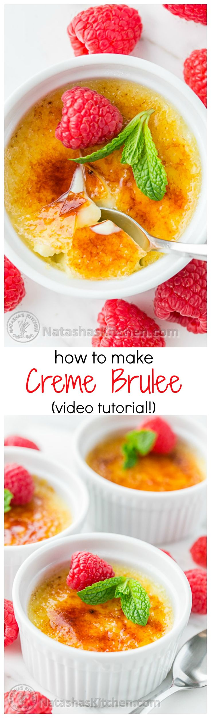 Quick and Easy Creme Brulee Recipe with great Video Tutorial from @natashaskitchen