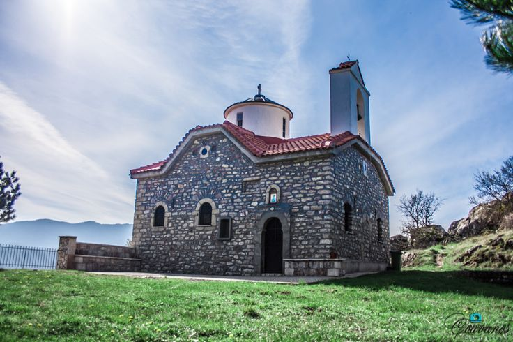Saint Dimitrios church - in the hill of Karpenisi - Greece