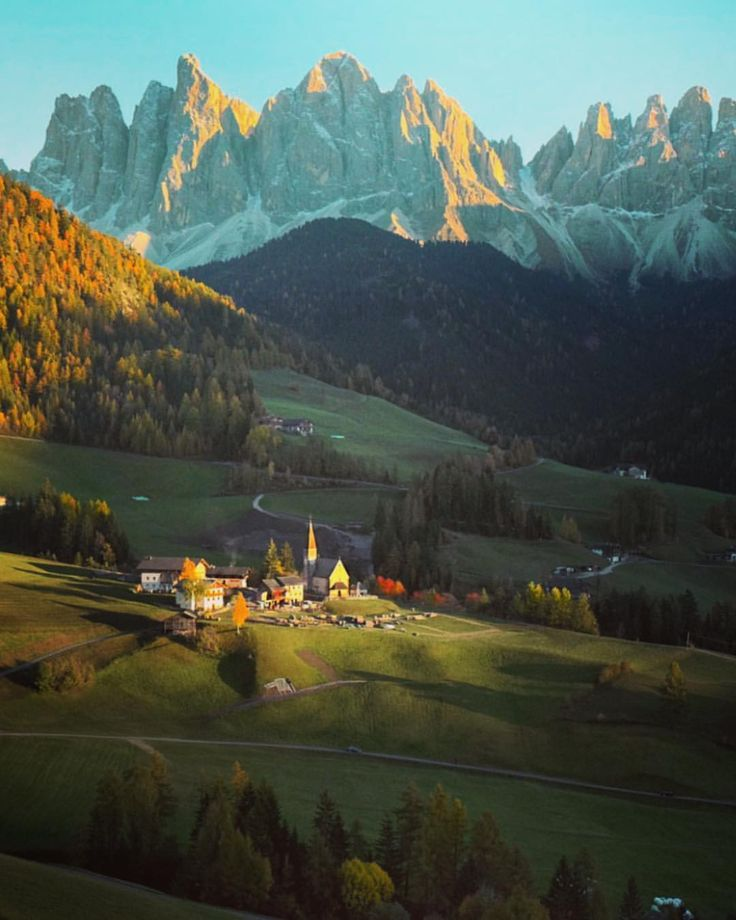 "Val di Funes...... ""last light on St Magdalena village #dolomities"""