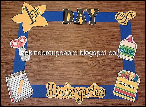 first day of school picture frame - get more information how to make this for FREE! Visit thekindercupboard blogspot for your free downloads.