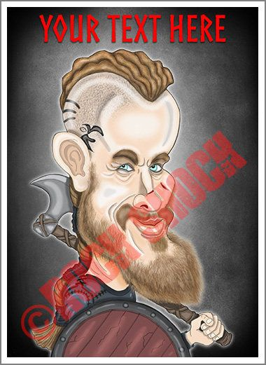 King Vikings Caricature Greeting Cards Check out this item in my Etsy shop https://www.etsy.com/uk/listing/513481270/king-viking-caricature-custom-text #viking #kingviking #kingragnar #ragnarcaricature #valhalla #sonsofragnar #caricatureartist #vikingsart