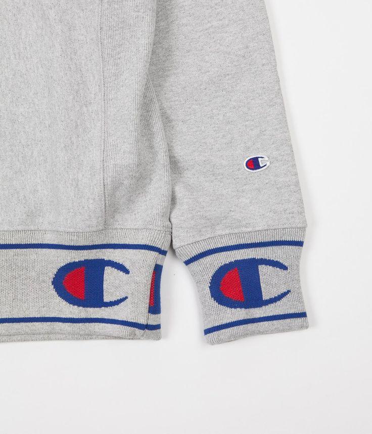 Champion Reverse Weave Embroidered Logo Crewneck Sweatshirt - Grey