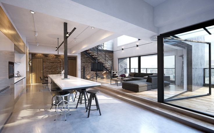 This open loft interior comes from Archinteriors vol. 42.