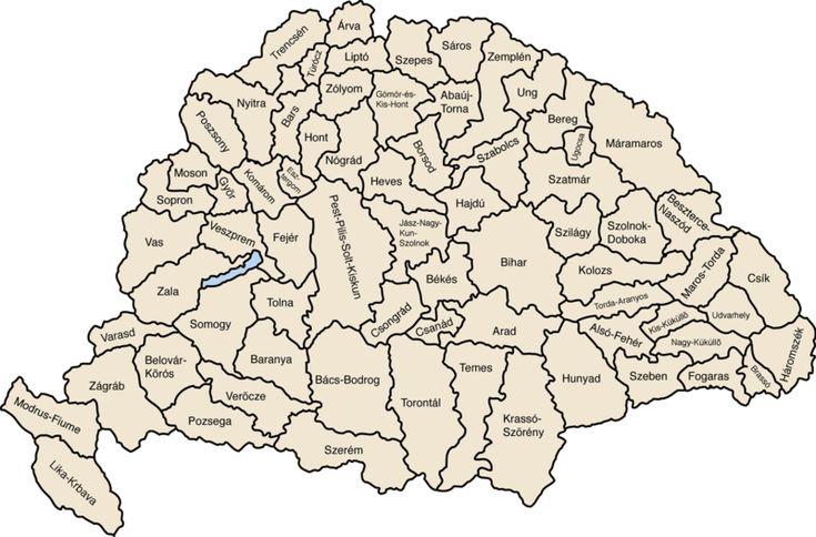 A Magyar Királyság vármegyéi 1881-1918
