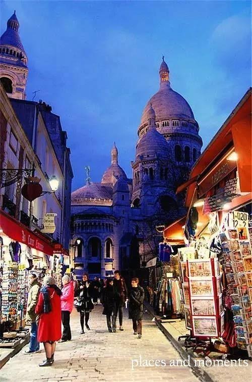 Sacre Coeur and Montmartre,Paris.
