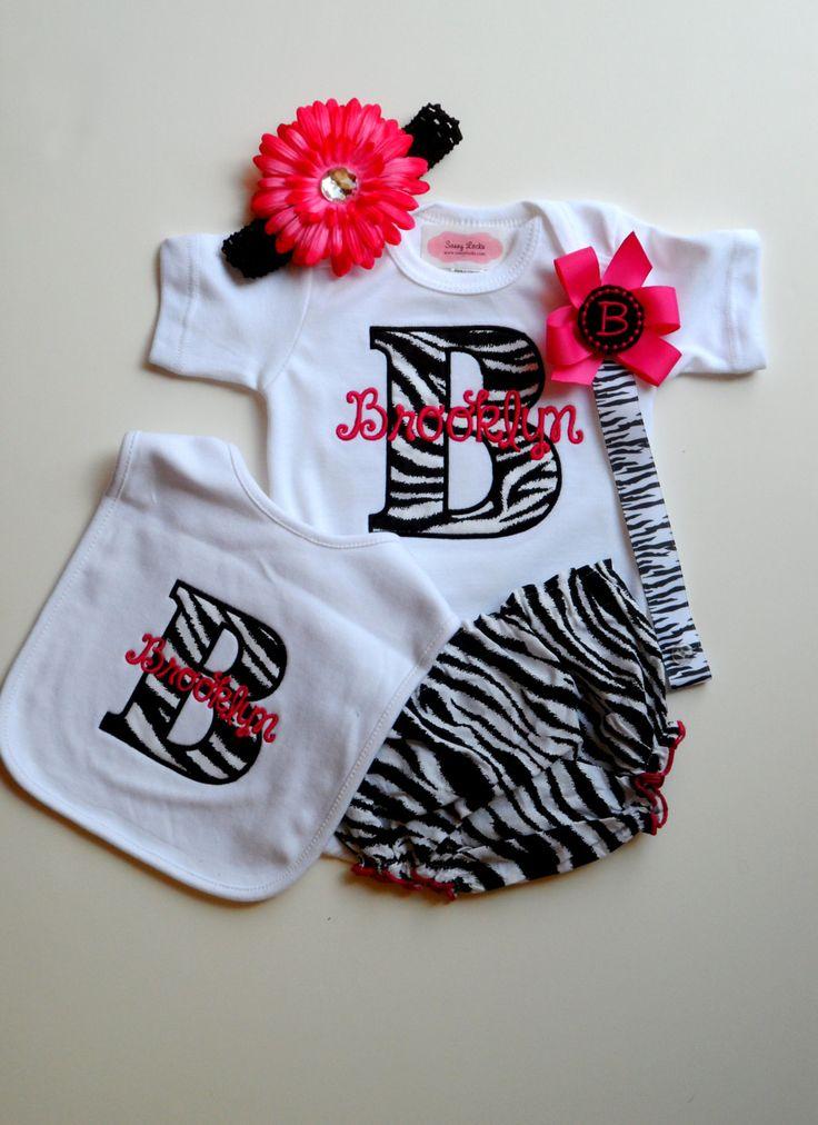 Monogram+Baby+Girl+Clothes+Newborn+Girl+Take+Home+by+LilMamas,+$36.90