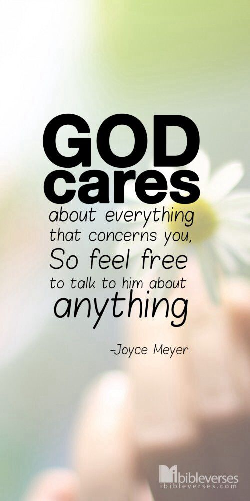 Joyce Meyer Quote #GodCares #Truth