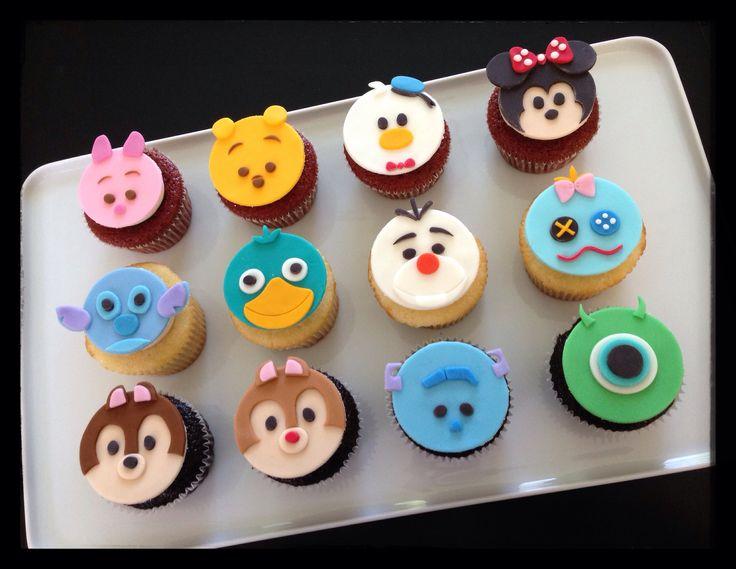 disney tsum tsum fondant cupcakes