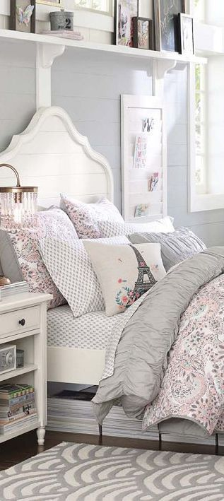 Pale Gray U0026 Pink Bedroom By Charisma Design