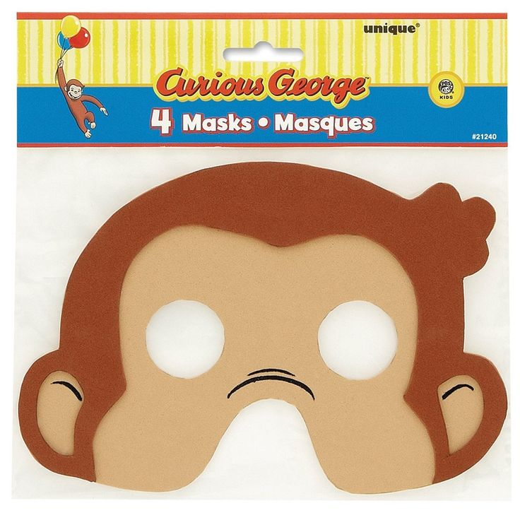 Curious George Foam Party Masks, 4ct, Party Favors - Amazon Canada