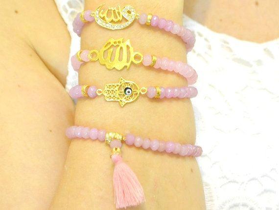 Allah bracelet islamic gift arabic jewelry muslim von KURSIJEWELRY