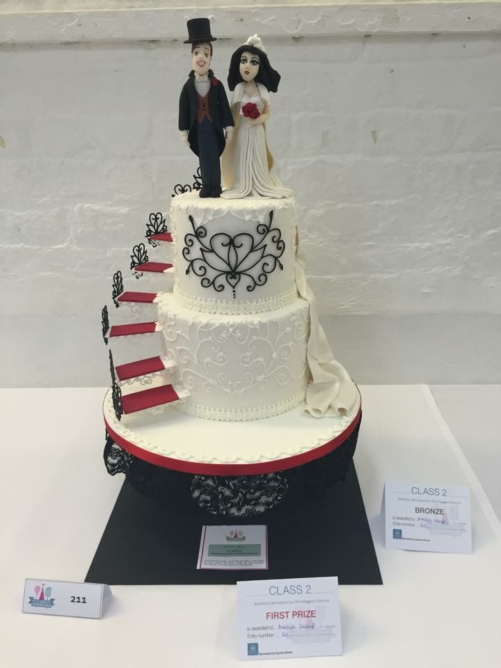 My Old Hollywood Glamour Wedding Cake Got 1st Prize At Squires Competition 2015 Yay