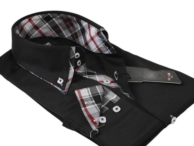 F5 Black Shirt | Farrabi Slim Fit | Exclusive Luxury Shirts