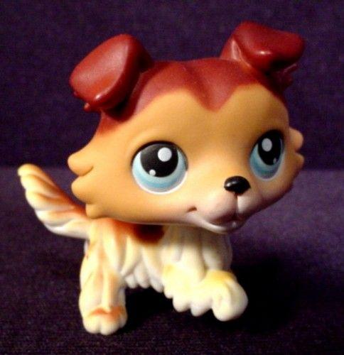 Littlest Pet Shop Collie   Littlest Pet Shop #58 Collie, 2004 Hasbro - RONS RESCUED TREASURES