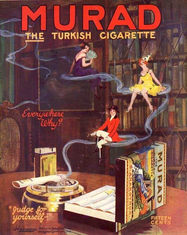 Murad Cigarettes ad, 1917