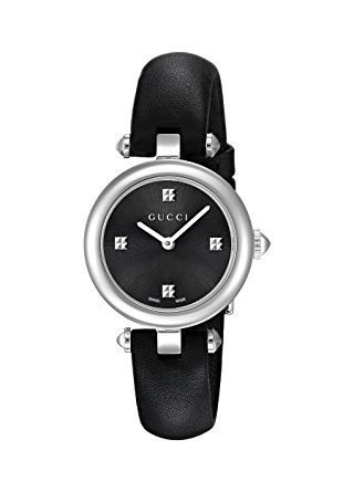 a00188ebec5 Gucci Swiss Quartz Stainless Steel and Leather Dress Black Women s Watch(Model   YA141506) Review
