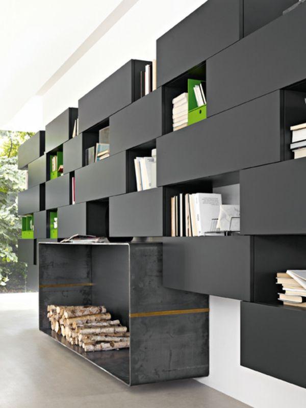 Meuble design unique - modules Forte Piano de Molteni