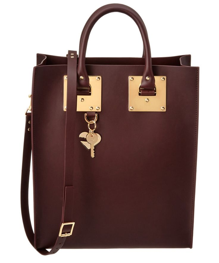 SOPHIE HULME SOPHIE HULME ALBION LEATHER TOTE'. #sophiehulme #bags #shoulder bags #hand bags #leather #tote #lining #