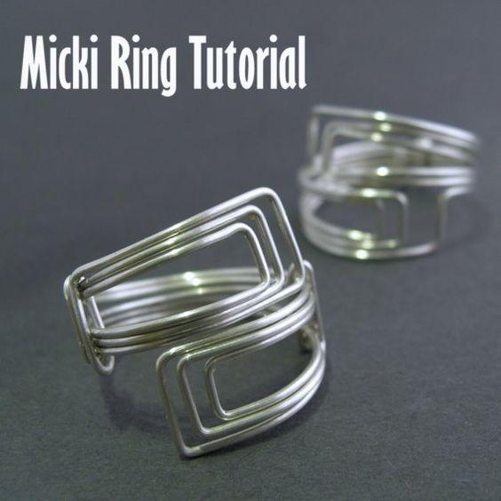 74 best Drahtschmuck Ring images on Pinterest | Diy schmuck ...