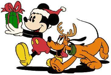 Mickey en Pluto met een Cadeautje