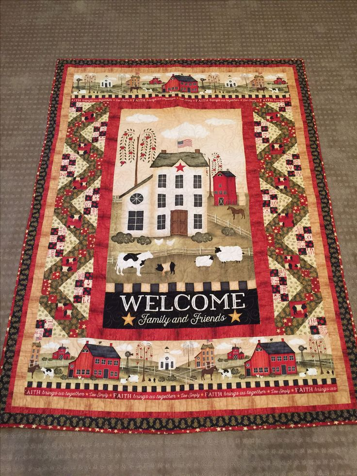 Welcome home quilt.