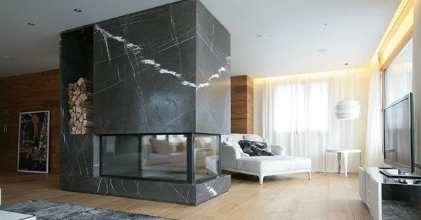 Камин из мрамора Nero Marquino. Black marble fireplace - modern design. http://www.jet-stone.ru/izdelija/zakazat-kaminy-iz-mramora-mramornye-kaminy-na-zakaz