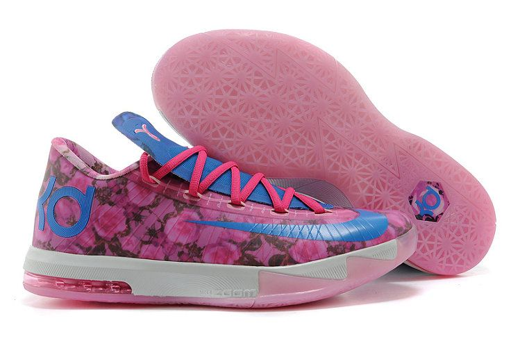 new arrival f8f70 a11a8 2018 New Arrival KD 6 VI Aunt Pearl Floral 618216 600 Light Arctic Pink  Photo Blue