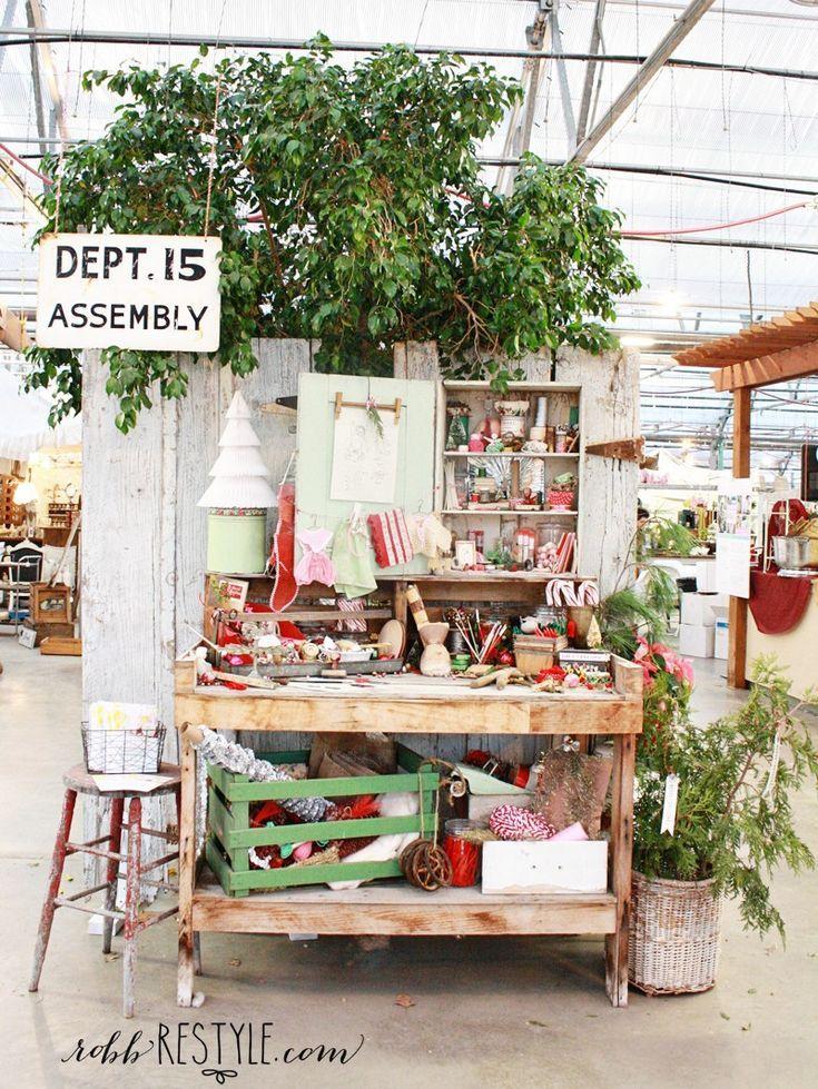 Holiday Hobnob Market Booth Display Ideas Vintage Booth Display Christmas Booth Craft Market Display