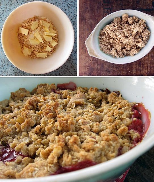 Double Ginger Rhubarb Crumble: Make Ahead Meals, Freezers Breakfast Burritos, Apple Crumble, Gingers Rhubarb, Double Gingers, Freezers Meals, Apples, Rhubarb Crumble, Yummy Treats