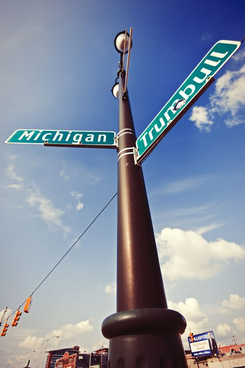 Best corner ever!!!! Michigan and Trumbull, Detroit, MI ......Home of Tiger Stadium