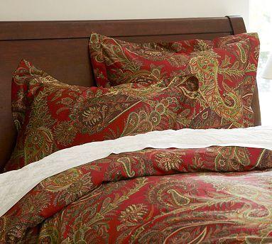 caroline paisley duvet cover sham potterybarn 119 cal king duvet beddy bye pinterest. Black Bedroom Furniture Sets. Home Design Ideas